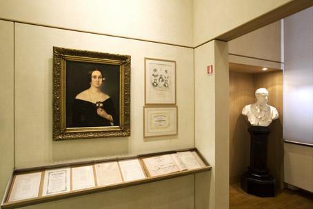 Scorcio museo con ritratto Strepponi